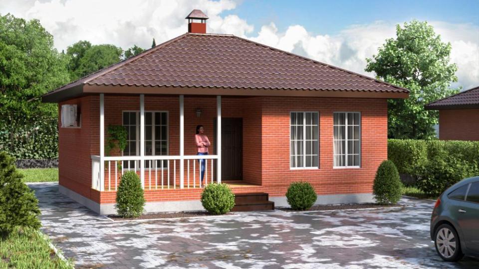 Кирпичный дом ТИП 1 - 81 кв.м.