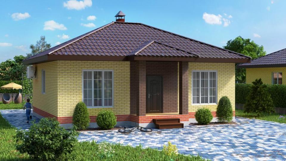 Кирпичный дом ТИП 2 - 84 кв.м.