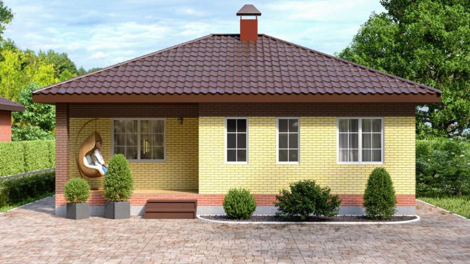 НОВИНКА Кирпичный дом ТИП 3 - 91 кв.м.